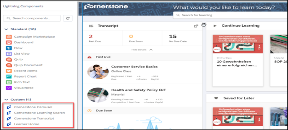Cornerstone for Salesforce Integration