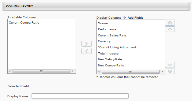 Base Compensation Template - Layout - Column Layout
