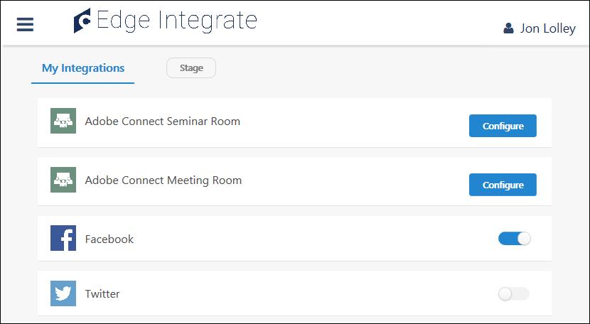 Integrations - Configure My Edge Integrations