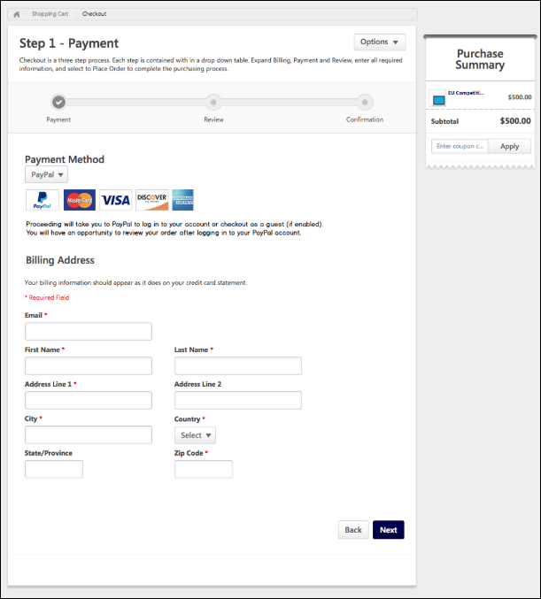 For More Information About The Checkout Process See Step 1 Payment
