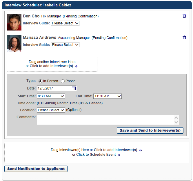 Resend Notification To Applicant