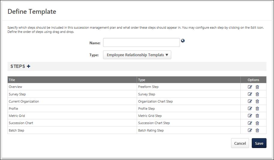 SMP Template - Create/Edit