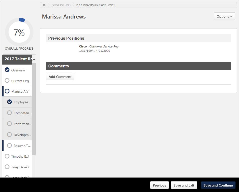 Create SMP Template - Resume Feedback Sub-Step